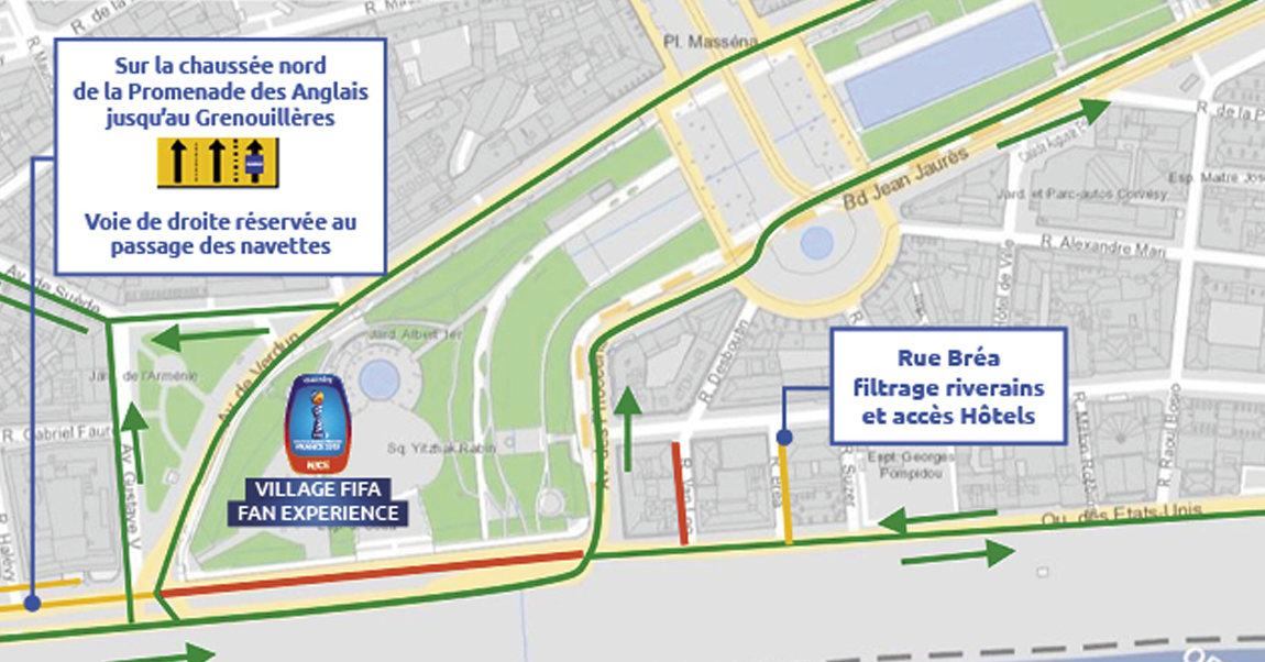 Restrictions de circulation autour du centre ville