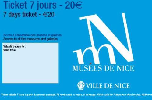 Pour 20 euros, 7 jours d'accès dans les musées de la Ville