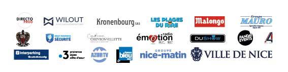 Logos des partenaires du concert caritatif en faveur des vallées sinistrées