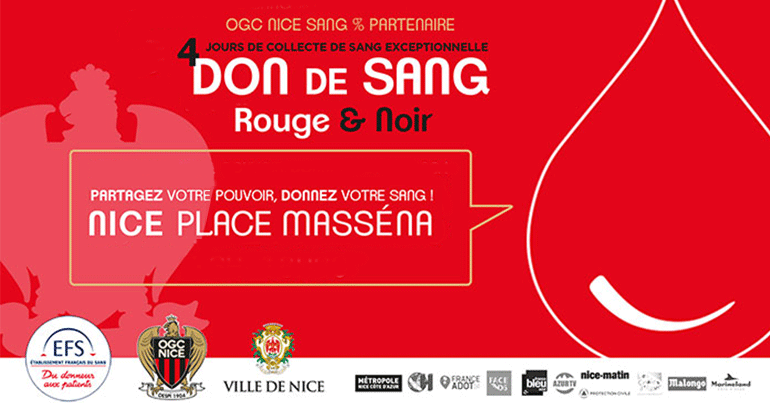 Don de sang rouge & noir