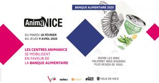 Les centres AnimaNice se mobilisent pour la Banque Alimentaire du 18 février au 9 avril 2020.
