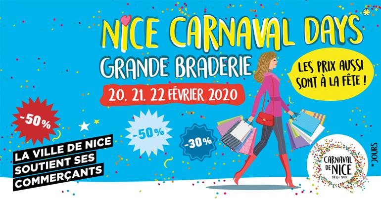 Nice Grande Braderie 20, 21, 22 février 2020