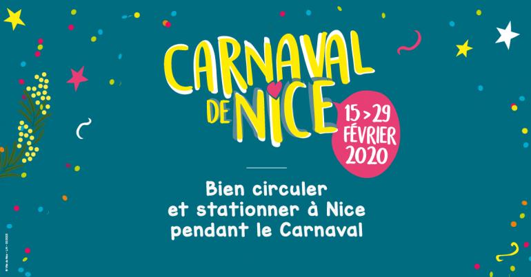 Bien circuler et stationner à Nice pendant le carnaval